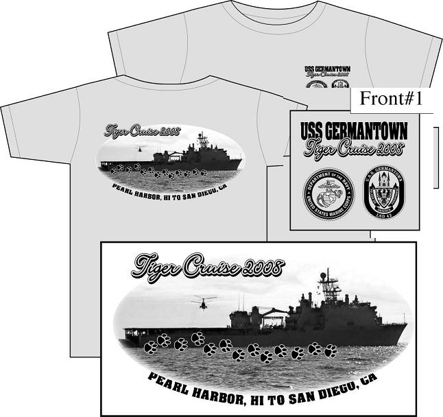 tiger cruise shirt uss germantown